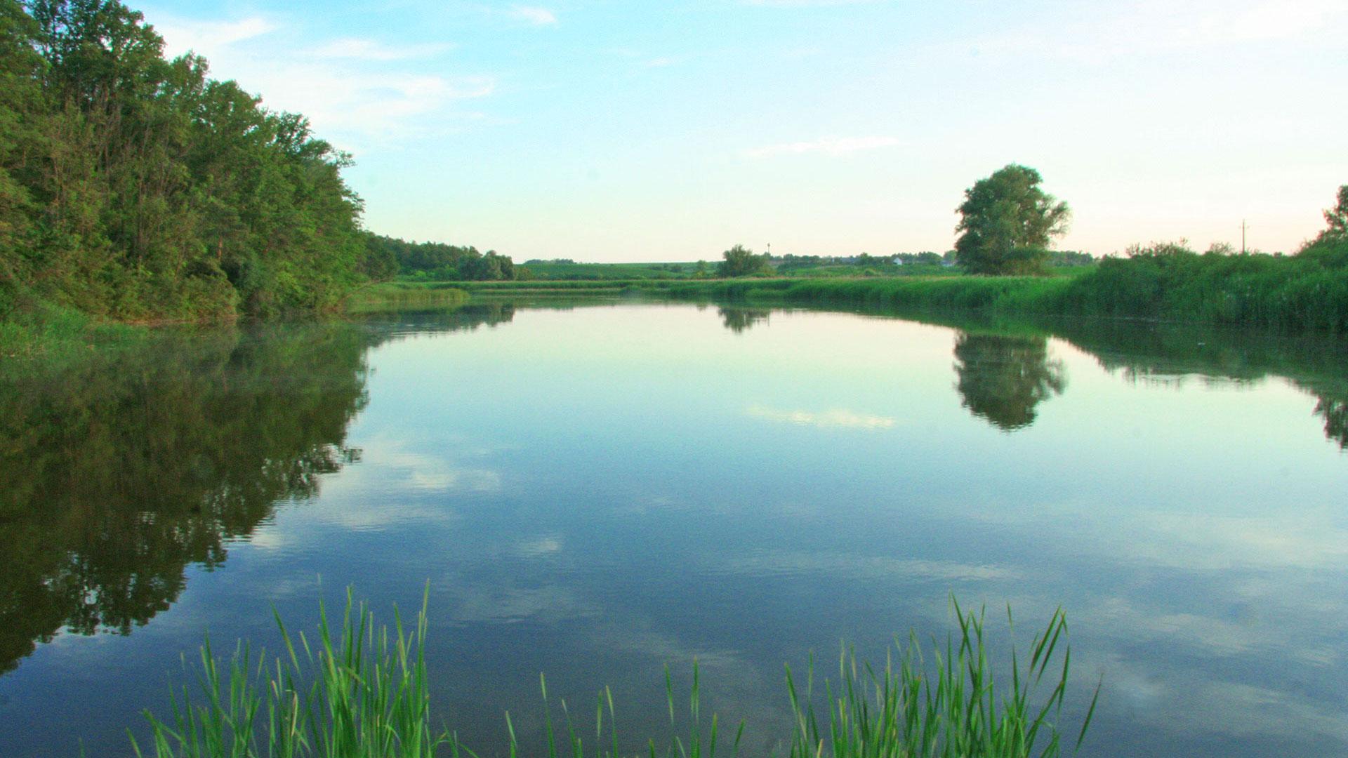 a 3 hektáros tó - csend, nyugalom, béke